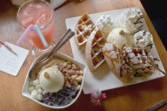 Dessert : Patbingsu (Korean Ice Dessert Recipe) : Old fashion & Green ...