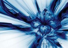 Absztrakt virág vlies poszter, fotótapéta 3531VE- több méretben