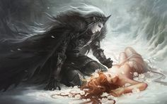 Hades and Persephone. Love this take on Hades. Persephone looks, erm, cold. Fantasy Love, Dark Fantasy Art, Fantasy World, Dark Art, Elves Fantasy, Fantasy Artwork, Hades Und Persephone, Meditation Musik, Fantasy Kunst