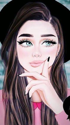 Beautiful Girl Drawing, Cute Girl Drawing, Beautiful Sketches, Cartoon Girl Drawing, Beautiful Fantasy Art, Cute Baby Girl Pictures, Cute Friend Pictures, Anime Angel Girl, Anime Art Girl