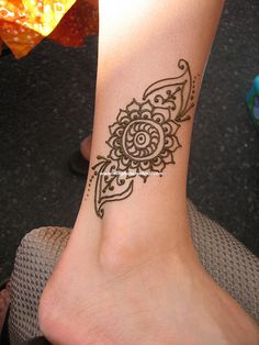 ankle henna designs - Google Search