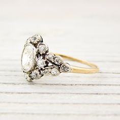 Heavens this is lovely....  .52 Carat Oval Cut Diamond Antique Gold Victorian Engagement Ring