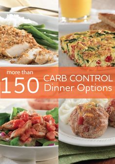 Following a low-carb diet? These easy, healthy recipes all have 15 grams of total carbs or fewer per serving, and are fat controlled and sodium controlled. Plus, they are carefully selected as diabetes-friendly options.