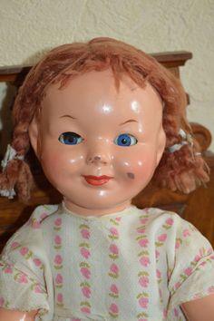 Кукла опилочная , CCCР , 1950 - е года ( Аллочка ). Ранняя Ленигрушка !Очень редкая !