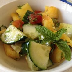 """Pineapple Cucumber SaladI """"What a refreshing,delicious salad. Just loved it yum."""""""