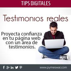 Con los #Testimonios de tus clientes dentro de tu #Página #Web lograrás proyectar una #Imagen positiva de tu #Empresa.