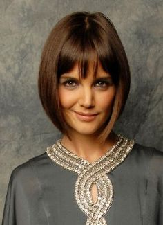 Women's bob hairstyle with bangs