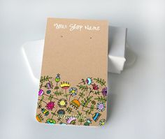 10 Custom Earring Cards with Holes   Happy by SillyBirdGraphics