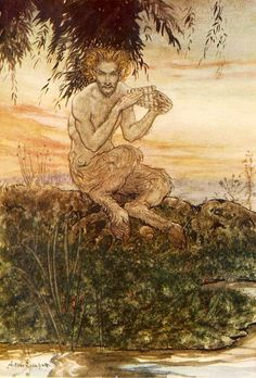 "Arthur Rackham (1867-1939), Illustration pour ""The Wind in the Willows"", de Kenneth Grahame."