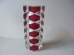 Superb Retro French Art Glass Three Sided Vase by Durand, France