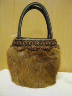 84a713642b Adorable Real Mink Brown Handbag by furgirl on Etsy Fur Purse