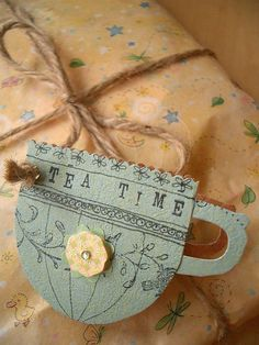 Paper tea tag card