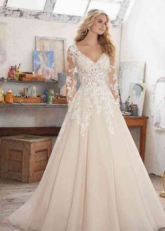 Long Wedding Dresses, Long Sleeve Wedding, Wedding Dress Sleeves, Tulle Wedding, Bridal Dresses, Lace Weddings, Dress Wedding, Country Wedding Dresses, Ivory Wedding Gowns