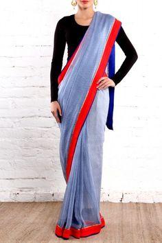 Light Blue Sari
