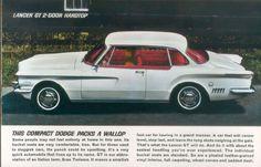 1962 Dodge Lancer GT 2-Door Hardtop
