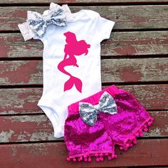 Mermaid Princess Baby Girl Bodysuit Princess by GLITTERandGLAMshop
