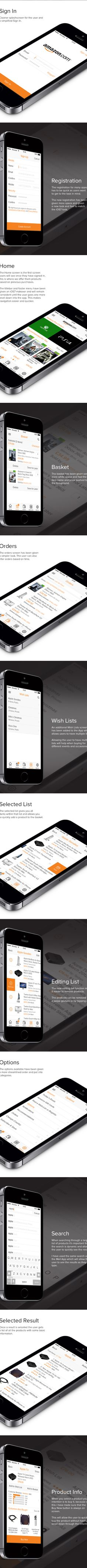 Amazon - iOS7 Redesign by Michael Shanks, via Behance