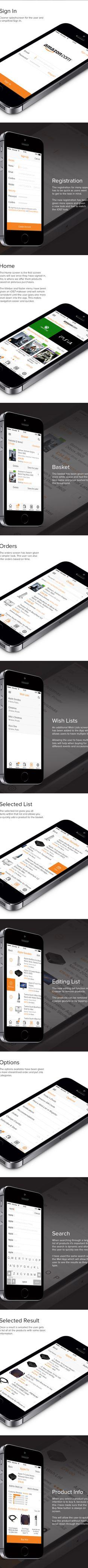Amazon - iOS7 Redesign by Michael Shanks, via Behance