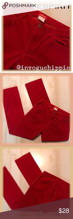 52a30814ea Esprit Red Corduroy Pants Size 7/8 Esprit Red Corduroy Pants Size 7/8