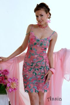 "Dress ""Florence"". Designer - Asia Verten, Italy. Oder pattern from www.irishcrochetlab.com"