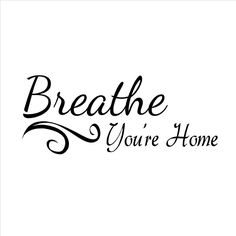 Entryway Decals for Wall Breathe Your Home Sign 22' X 9' Matte Black By Katazoom Wall Decals * Discover this special product, click the image : Wall Stickers and Murals for Home Decor