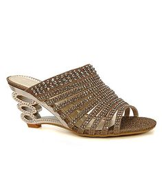 Another great find on #zulily! Gold Rhinestone Sandal #zulilyfinds
