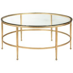 Evelyn Coffee Table Gold Sofa Table ($529) ❤ liked on Polyvore featuring home, furniture, tables, accent tables, gold, gold table, gold furniture, gold accent table, gilt furniture y gold coffee table