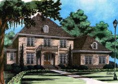 French Country Chateau - 15010NC | 1st Floor Master Suite, Bonus Room, Butler Walk-in Pantry, CAD Available, Corner Lot, Den-Office-Library-Study, European, French Country, Jack & Jill Bath, PDF | Architectural Designs