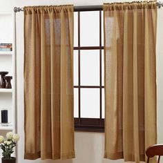 Our Burlap Natural Curtain Collection is perfect for any decor, from rustic country to industrial modern.  And...our cotton woven into a burlap-like weave, just like burlap but without the rough texture and burlap smell! Shop the collection at The BitLoom Co. here:  https://www.thebitloom.com/collections/country-rustic-curtains/products/burlap-natural-curtain-collection