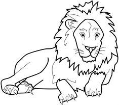 Cute Lion Mask Coloring Page