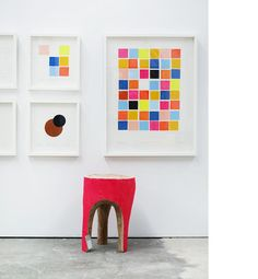 oh and how could we forget the coloured stools by the one & only Greg Hatton!  Love Twiggy x