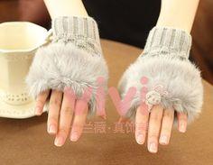 fingerless gloves texting gloves fake fur by DIYWatchBracelet, $8.99