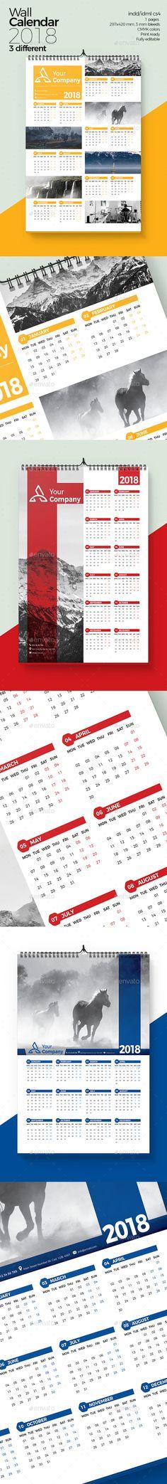 Wall Calendar 2018 Calendar 2018, Calendar design and Font logo