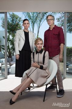 Rooney Mara, Cate Blanchett and Todd Haynes for The Hollywood Reporter's Photo Portfolio at Cannes 2015.