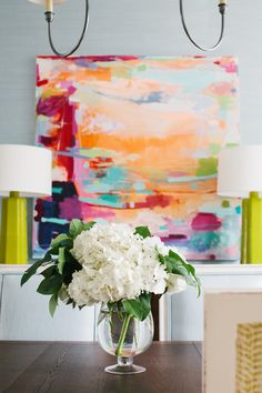 glass tasseled lamps - transitional - dining room | grey abstract
