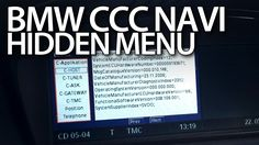 How to enter hidden menu in #BMW #iDrive #CCC navigation #E60 #E90 #E63 #E81 #X5 #cars