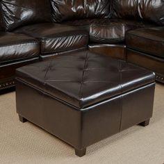 Best Selling Weldon Leather Storage Ottoman