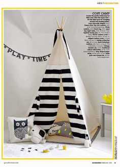 Teepee Pattern PDF Tipi Sewing pattern Wigwam by LWPatterns Diy Tipi, Diy Teepee Tent, Play Teepee, Tents, Teepee Pattern, Home And Deco, Nursery Design, Kid Spaces, Stuffed Toys Patterns