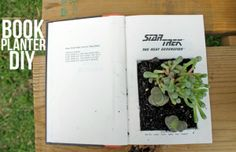 Recycled Book Planter DIY