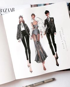 Pin by Clara on Fashion illustration in 2020 Dress Design Sketches, Fashion Design Sketchbook, Fashion Design Portfolio, Fashion Design Drawings, Fashion Sketches, Drawing Fashion, Fashion Illustration Template, Fashion Illustration Face, Medical Illustration
