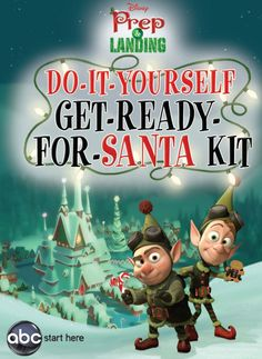 Disney's PREP & LANDING: TOTALLY TINSEL COLLECTION DVD & Printable Santa Prep Kit