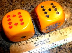 Hey, I found this really awesome Etsy listing at https://www.etsy.com/listing/461920360/huge-vintage-poker-bakelite-dice-pair