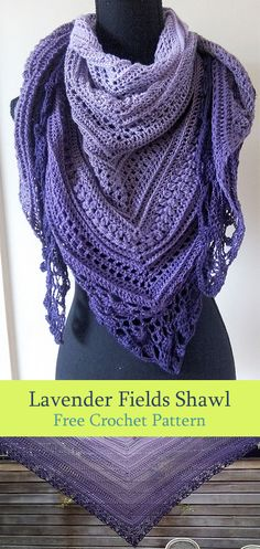 Fashionable and modern scarf pattern. It is made in a great lavender color., Fashionable and modern scarf pattern. It is made in a great lavender color. It has a beautiful texture and stitch. It is a free pattern for everyone. Crochet Shawls And Wraps, Crochet Scarves, Crochet Clothes, Crochet Hooks, Crochet Patterns For Scarves, Modern Crochet Patterns, Lavender Color, Lavender Fields, Crochet Accessories