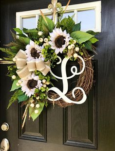 NEW Front Door Wreaths Summer Door Wreaths Fall Wreath for