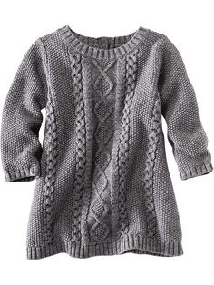 Cable-Knit Sweater Dress - this is way too cute. It won't let me fix the pin to the next size up though...3-6 months would be too small.