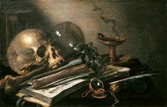 Vanitas Still Life with Skull - Pieter Claesz, 1656