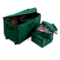 Christmas Tree Storage Bin 3Drawer Christmas Ornament Storage Chest  Cooool Stuff