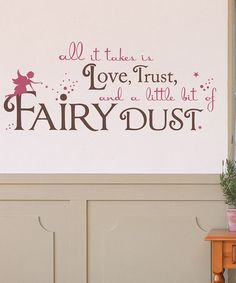Take a look at this Sissy Little Lipstick & Brown 'Fairy Dust' Wall Decal by Once Upon a Time: Kids' Décor on @zulily today!