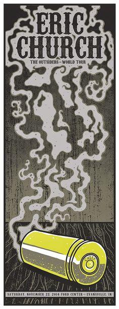 Jim Mazza Eric Church & Skrillex Posters On Sale