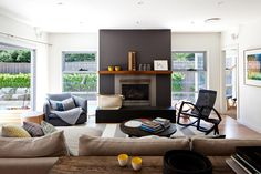 Fusing a laid-back beach house vibe with a contemporary yet cosy interior, this heavenly light-filled home in Manly ticks a lot of boxes. 6 Bedroom House, House, Chic Living Room, Home, Living Spaces, House Interior, Lounge Room, Australian Homes, Interior Design